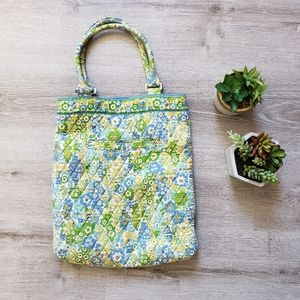 VERA BRADLEY quilted floral magazine tote bag